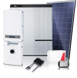 solar panels inverter battery