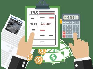 solar tax asset write-off
